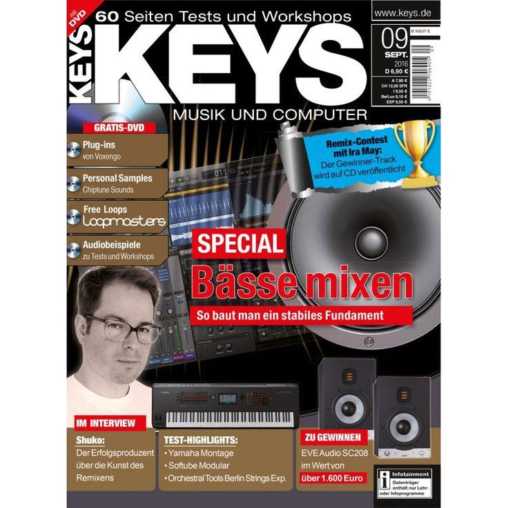 KEYS Ausgabe 09/2016 Shuko Keno Moop Mama Dreadbox Modulas PPV Medien GmbH, 6,90 €