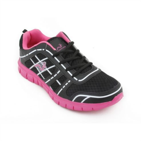 Woodworm Sports Fws Ladies Running Shoes / Trainers Black/Pink Size 7