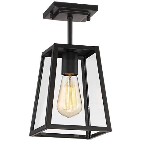 "Arrington 6"" Wide Oil-Rubbed Bronze Outdoor Ceiling Light"