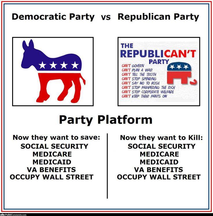 Republican Meme Democrat Vs