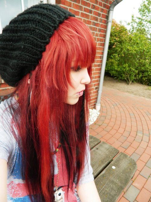 I love this <3 the bangs are really cute.... i'm quite fond of the color as well! :D
