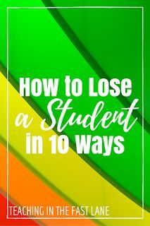 How to Lose a Student\'s Attention in Ten Ways | Pinterest