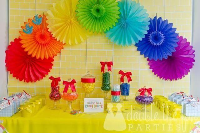 Wizard Of Oz, Rainbow Birthday Party Ideas | Photo 15 of 42 | Catch My Party