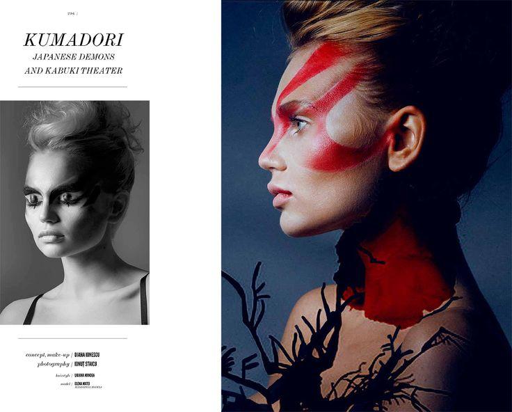 DIANA IONESCU// MAKE-UP ARTIST — Kumadori and other Japanese Demons Beauty...