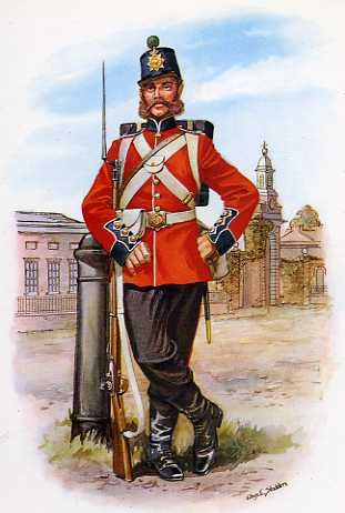 Private Of The Royal Marines Light Infantry, 1865.