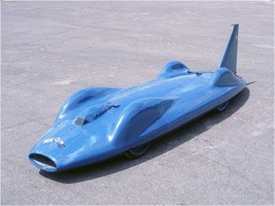 Donald Campbell's Bluebird CN7 - land speed record July 14, 1964 @ 403.1mph set at Lake Eyre, Australia