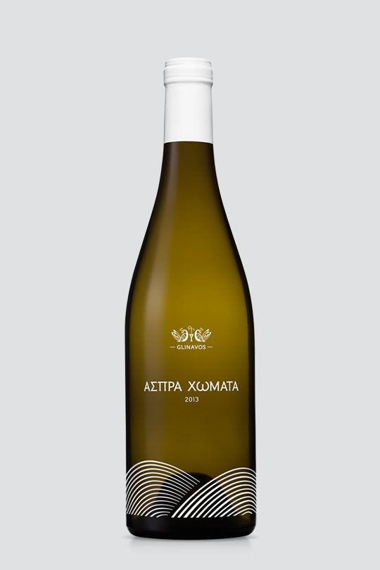 """Aspra Homata"" is a wine label of ""Domaine Glinavos"" and was named after the homonymous vineyards in Zitsa of Ioannina, Greece. This — Designspiration"