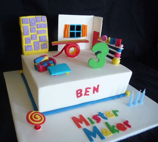 Mister Maker CakeBirthday Parties, Maker Parties, Arty Parties, Cake Decor, Parties Ideas, Parties Pretty, Cakes Mister Maker, Birthday Cake, Birthday Ideas
