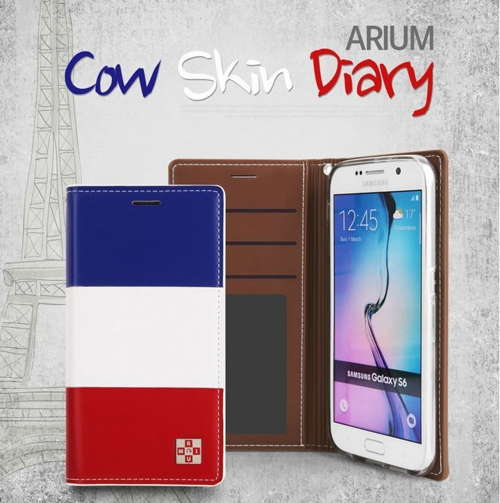 ARIUM COW SKIN DIARY FLIP CASE FOR GALAXY S6
