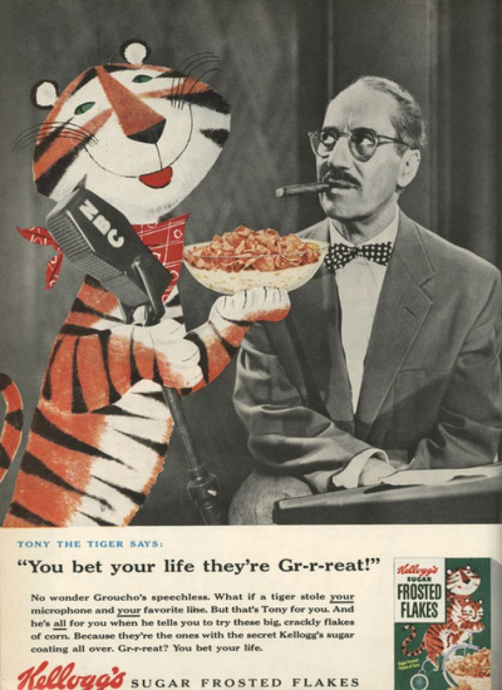 Groucho Marx: Frosted Flakes  Vintage Celebrity Endorsements: From Bette Davis To OJ Simpson (PHOTOS)