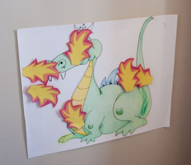 Pin the Fire on the Dragon game--(for Appreciate a Dragon Day on Jan. 16!)