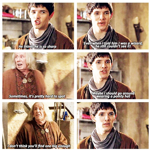 I had forgotten . . . Merlin actually told Arthur in the very beginning. Arthur just didn't believe him.