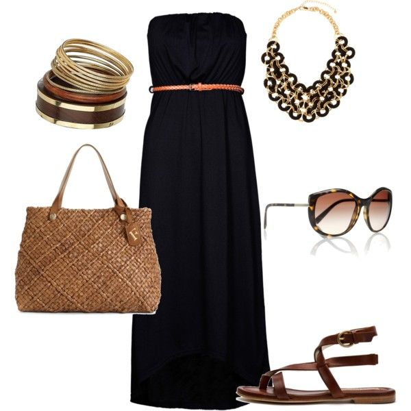 .: Long Dresses, Fashion, Summer Looks, Dreams Closet, Style, Spring Summ, Summer Outfits, Black Maxi Dresses, Summer Night