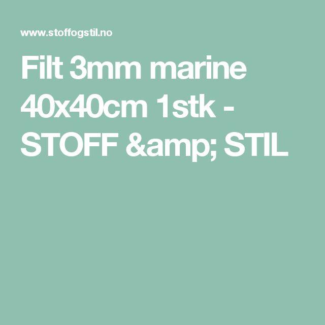 Filt 3mm marine 40x40cm 1stk - STOFF & STIL