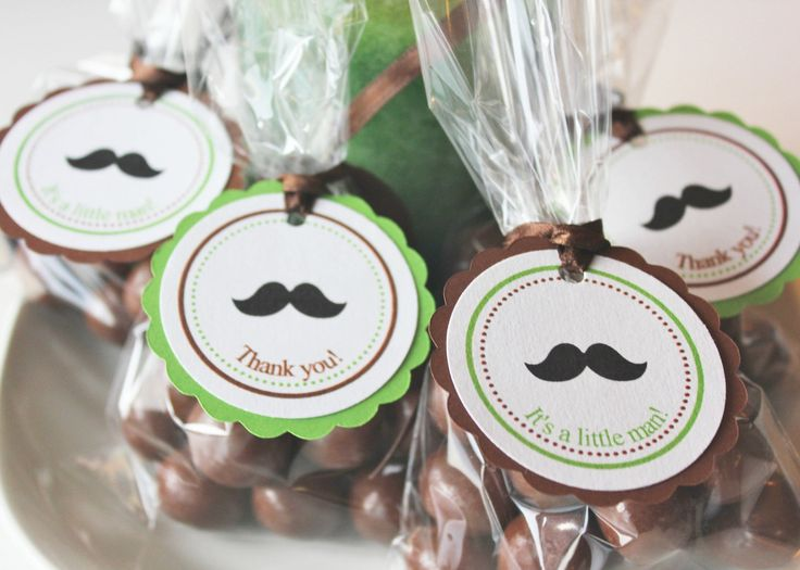 Mustache Baby Shower Favor Tags - Etsy (make on our own)