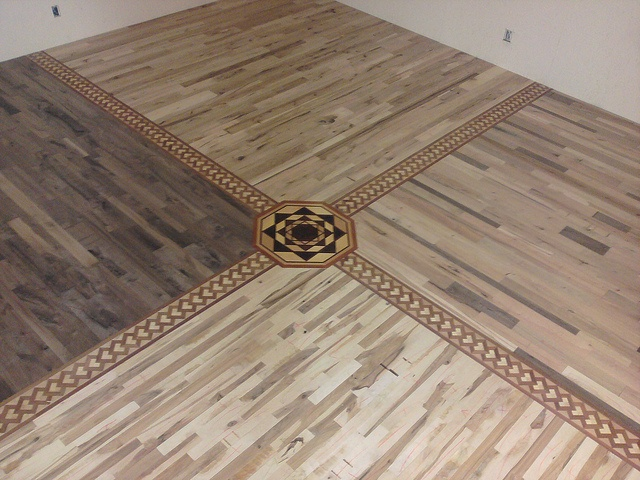 Hardwood Flooring, Medallions and Borders available at Woodstock Hardwood Flooring in Birnamwood, Wisconsin