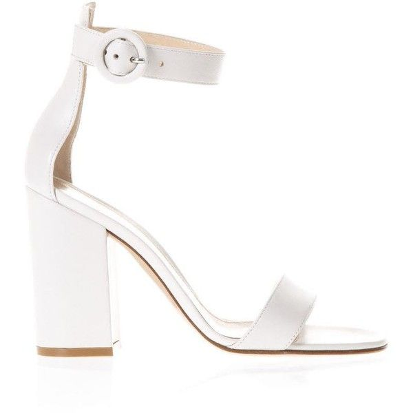 8ac7804a0b9e White Leather Sandals ( 595) ❤ liked on Polyvore featuring shoes ...