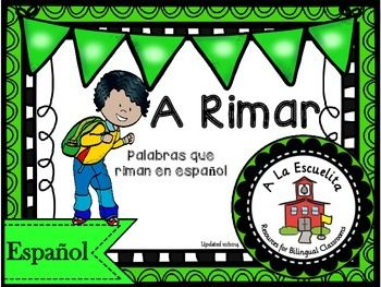 Rimas - Palabras que riman en espanol/Spanish Rhyming Words.   Click below for a video preview. https://youtu.be/HEm57j6yPBk