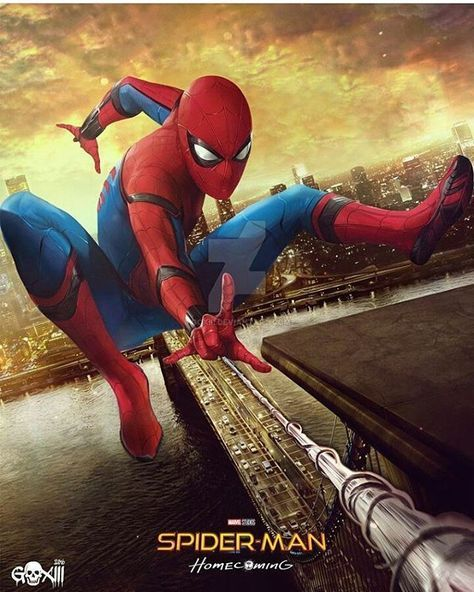 Spiderman homecoming! (Art by goxiii)