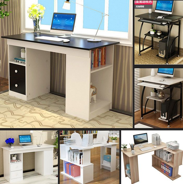 Computer Desk Writing Table-  Office Business Home Use- Easy to Mount 2 type opt #LIANGMU #Modern