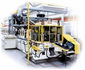 Roll forming machine for manufacturing steel products