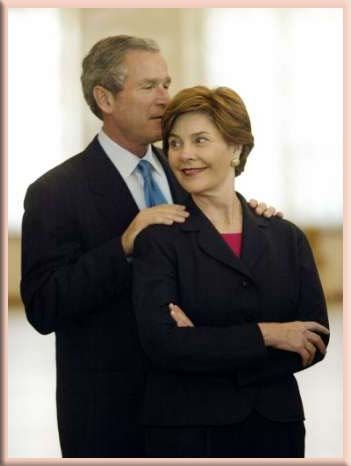 George W and Laura Bush - The best thing they brought to the White House was their devoted relationship.