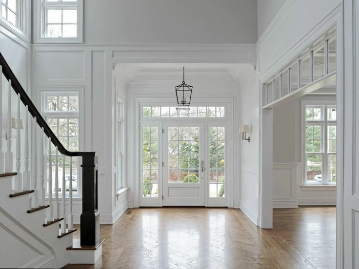 Open Foyer Windows : A bright and open foyer with incredible windows