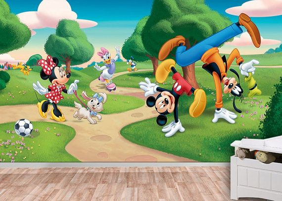 Marvelous 10 % Off Mickey Mouse Wall Mural Wallpaper Wall Décor By KIINOO Part 31