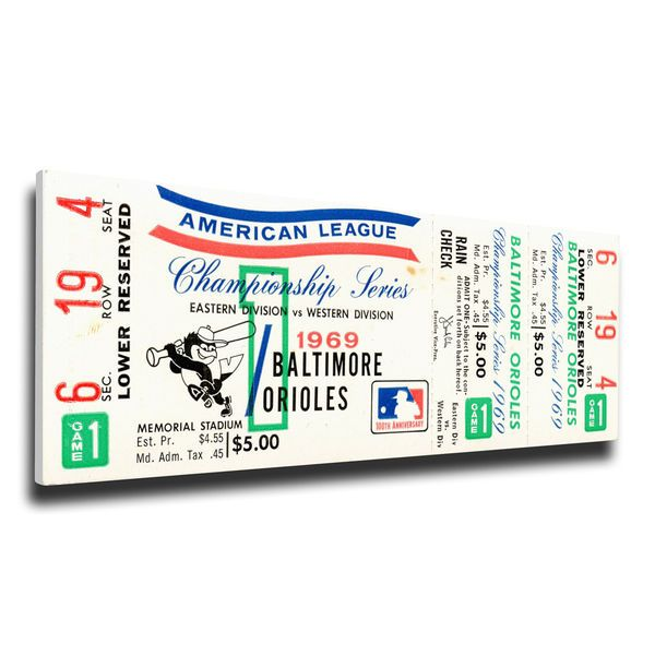 Baltimore Orioles 1969 American League Championship Series Mega Ticket, $79.99
