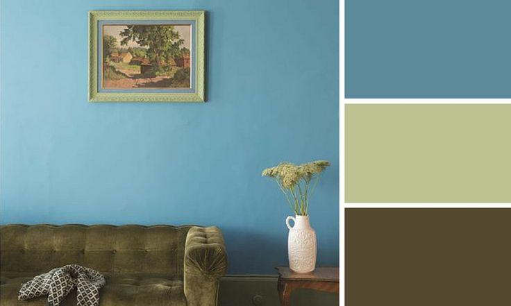 Quelles couleurs se marient avec le vert bleu farrow - Quelle couleur avec le vert ...