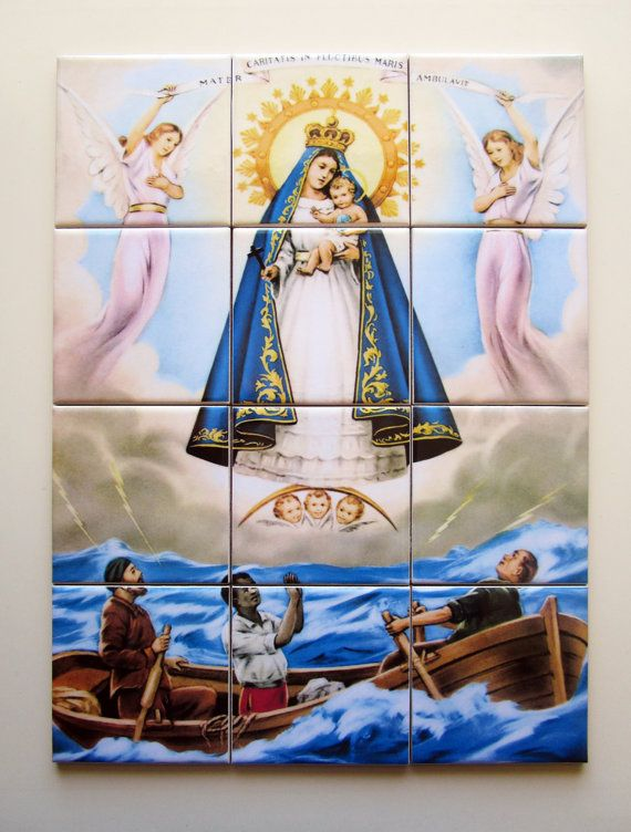 Catholic wall art - Our Lady of El Core https://www.etsy.com/it/listing/237325397/catholic-wall-art-our-lady-of-charity-of