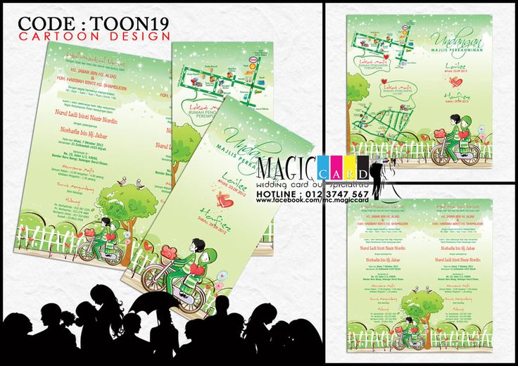 Rekaan Kad Kahwin Dalam Koleksi Cartoon Oleh Magiccard Enterprise Page 2 2 Cards Design Cartoon