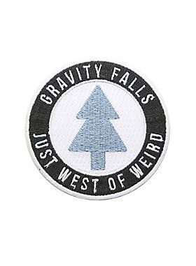 """<i>Gravity Falls</i> is just west of weird, but that doesn't stop the strangeness from sneaking into town. Join Mabel and Dipper Pines on investigations into the paranormal with this iron-on patch. The tree logo is inspired by Dipper's famous hat, but you won't have to pay Mystery Shack prices for it.<div><ul><li style=""""list-style-position: inside !important; list-style-type: disc !important"""">Approx. 3"""" diameter</li><li style=""""list-style-position: inside !important; list-style-type: disc…"""