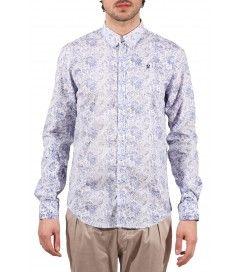 Camicia floreale J.Johnson azzurro