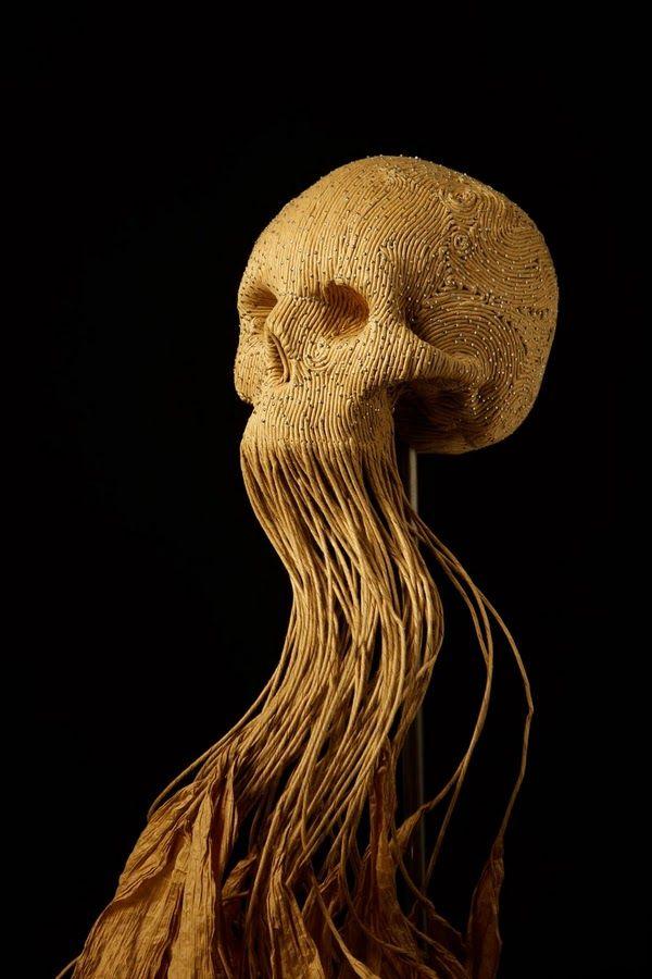 Skull sculpture by Jim Skull