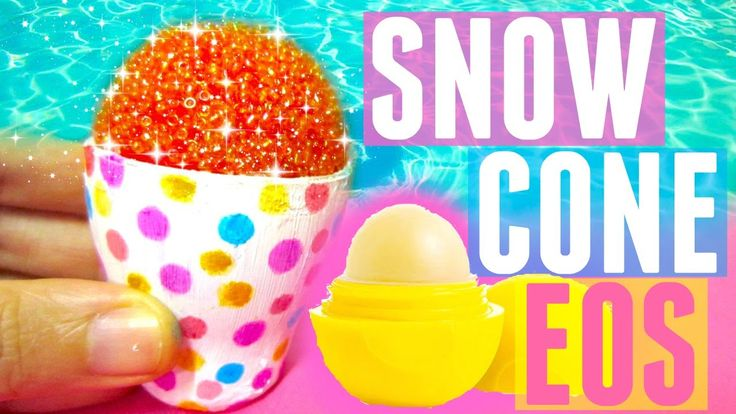 DIY SNOW CONE EOS | DIY EOS Lip Balm Container - YouTube Get your Containers here https://www.etsy.com/listing/470062701/lip-balm-holder-containers-diy-lip-balm?ref=listings_manager_grid