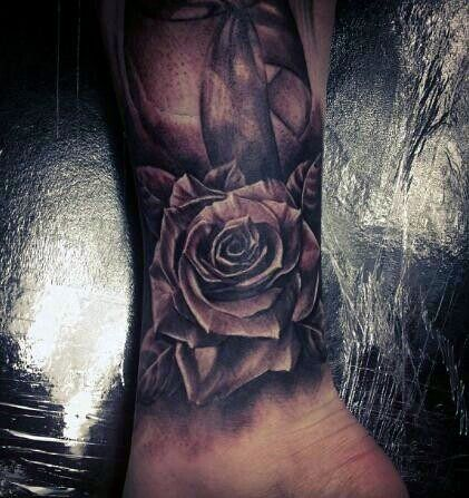 Rose Wrist Tattoo For Guys