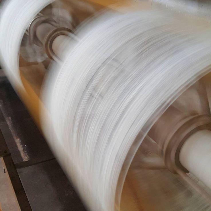 Around and around we go. Reeling is going 'flat tack' today.  #yarnporn #theyarnkitchen #skeinz #yarnmill #yarnlovers #yarnaddict #knitting #yarn #designspun