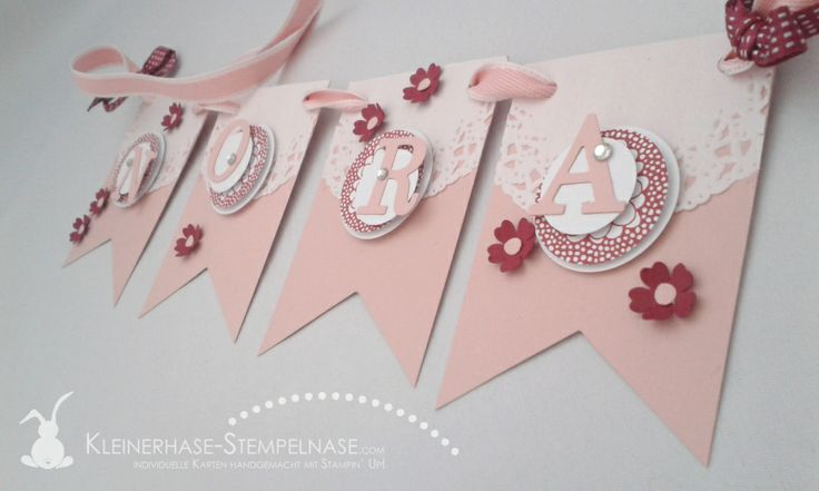 Stampin Up Wimpelkette Baby SaB 02