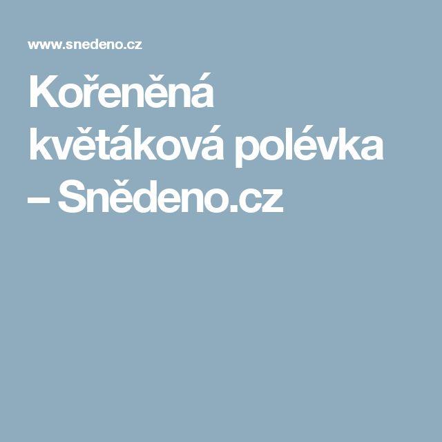 Kořeněná květáková polévka – Snědeno.cz