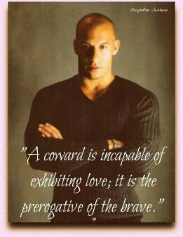 Vin Diesel!  I mean that is so thought provoking..,