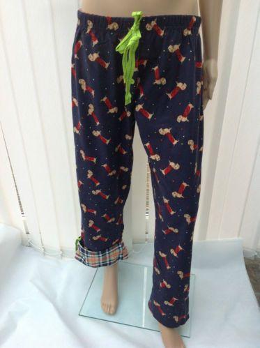 GORGEOUS CHRISTMAS DOG PYJAMAS BOTTOMS WITH CHECK TURN UP SIZES 8- 22 RRP £15 | eBay