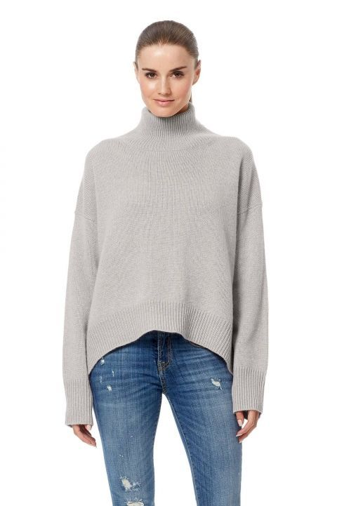 Women's Olive Turtleneck Pure Cashmere Sweater | 360Cashmere