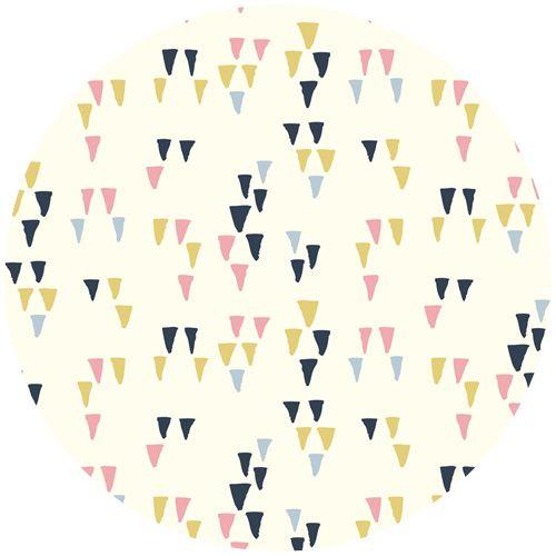 Miriam Bos for Birch Organic Fabrics, Wildland, KNIT, Arrowheads Cream