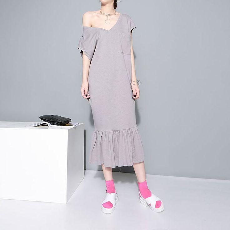[Soonyour] Европейский и Американский стиль 2016 женщин новый полый V образным Вырезом холтер платье оптовая свободный рыбий хвост SM11472купить в магазине soonyour fashionable StoreнаAliExpress