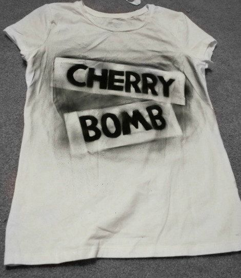 Cherry Bomb Shirt Joan JettThe Runaways by rahrahreplica on Etsy, $14.00