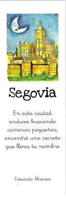 Marcapáginas con la catedral de Segovia
