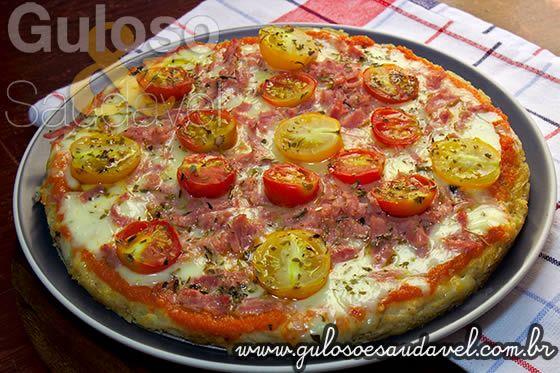 Pizza Fácil de Batata Doce » Massas, Receitas Saudáveis » Guloso e Saudável