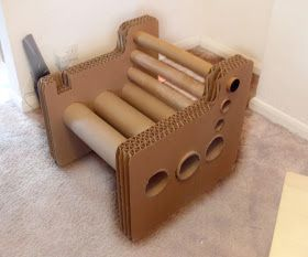 How to Recycle: Recycled Cardboard Furniture