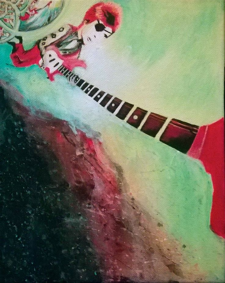Space Oddity By Selene Leal (acrylic On Canvas)